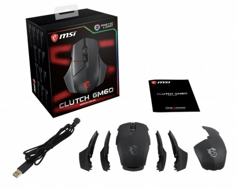 Mysz MSI Clutch GM60 Black (S12-0401470-D22)